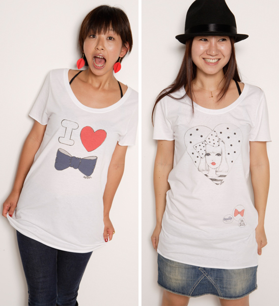 Tees featuring illustrations by Esther Kim