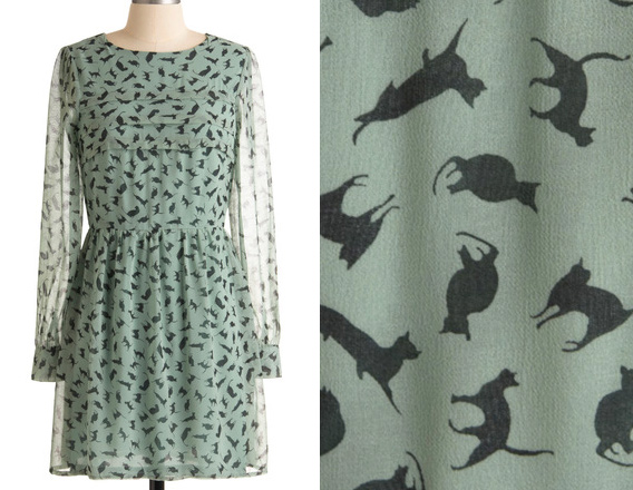 got a feline dress at modcloth