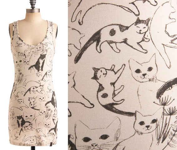 caturday tunic at modcloth