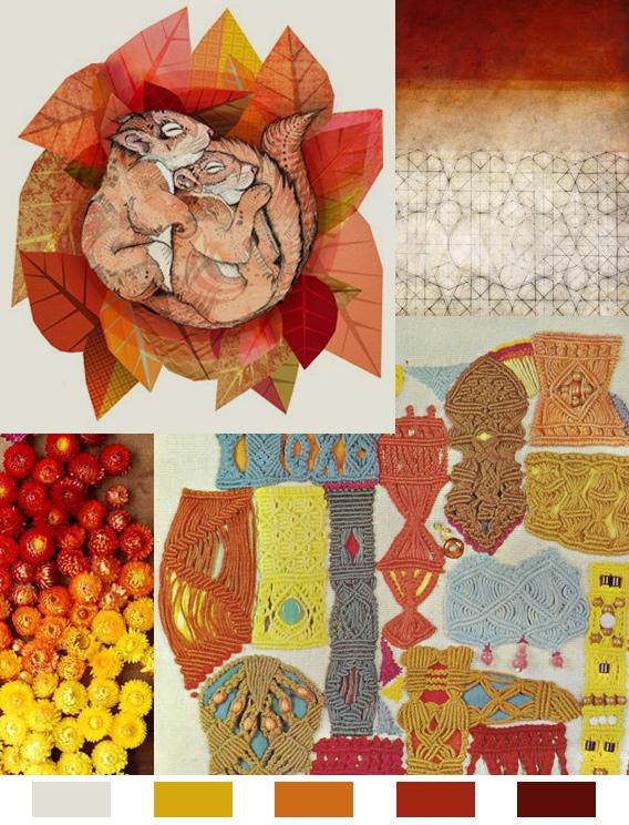 pumpkin spice color palette by aaryn west