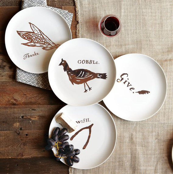 west elm thanksgiving dessert plates