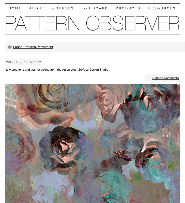 Aaryn West featured on Pattern Observer