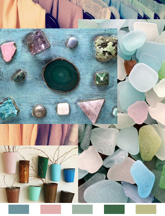 Mermaids and Minerals: Monday Color Mood via Aaryn West