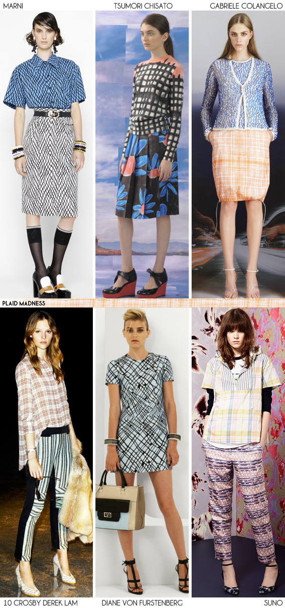 Resort 2013 Recap: Plaid Madness - Fashion Trends via Aaryn West