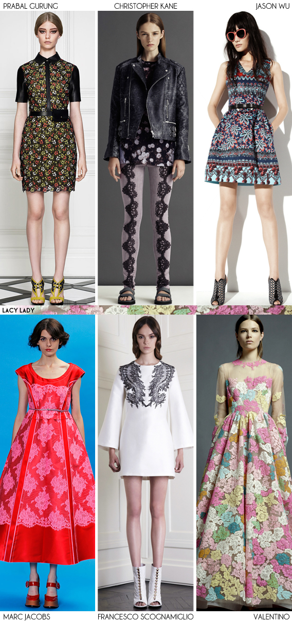 Resort 2013 Recap: Lacy Lady - Fashion Trends via Aaryn West