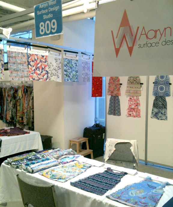 Aaryn West & Hunt + Gather at the LA Textile Show, October 2012