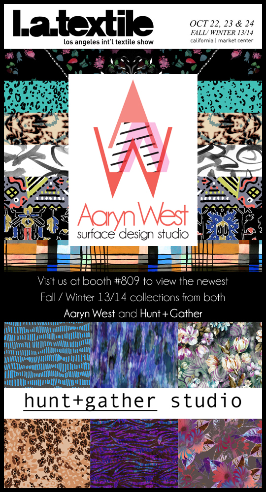 Aaryn West at the LA Textile Show Oct 2012