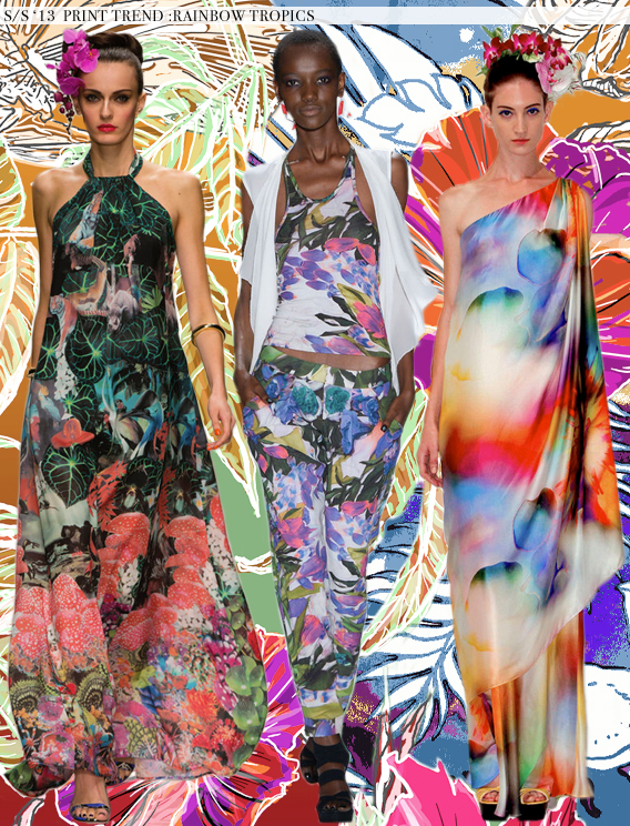Rainbow Tropics: Spring 2013 Runway Trends via Aaryn West