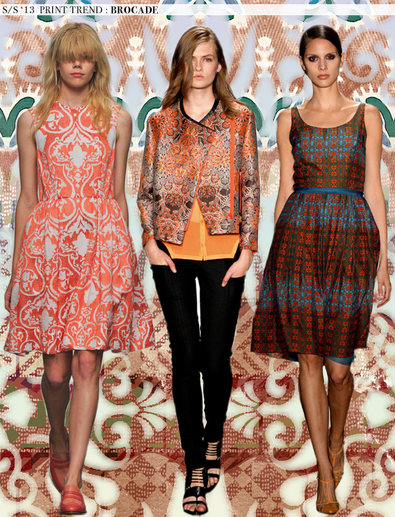 Brocade: Spring 2013 Runway Trends via Aaryn West