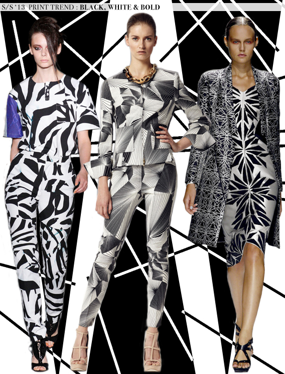 Black, White & Bold: Spring 2013 Runway Trends via Aaryn West