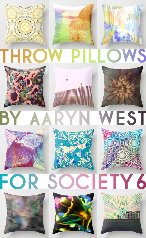 Throw Pillows by Aaryn West x Society6
