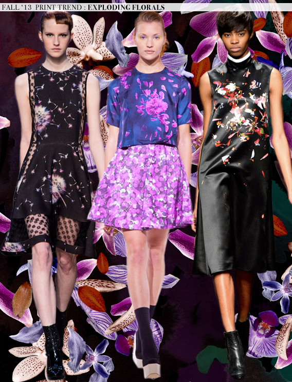 Exploding Florals: Fall 2013 Runway Trends via Aaryn West