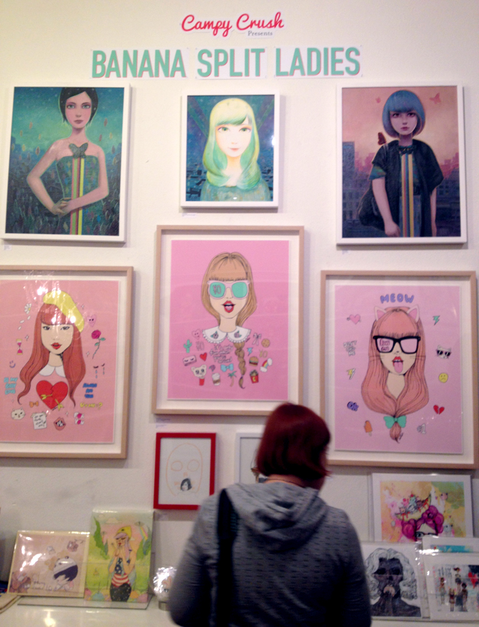 Campy Crush Presents Banana Split Ladies Art Gallery at LeeLee's Wonderland