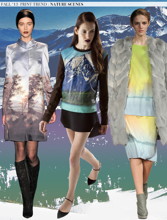 Nature Scenes: Fall 2013 Runway Trends via Aaryn West