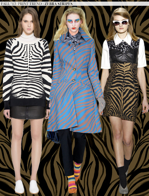Zebra Stripes: Fall 2013 Runway Trends via Aaryn West
