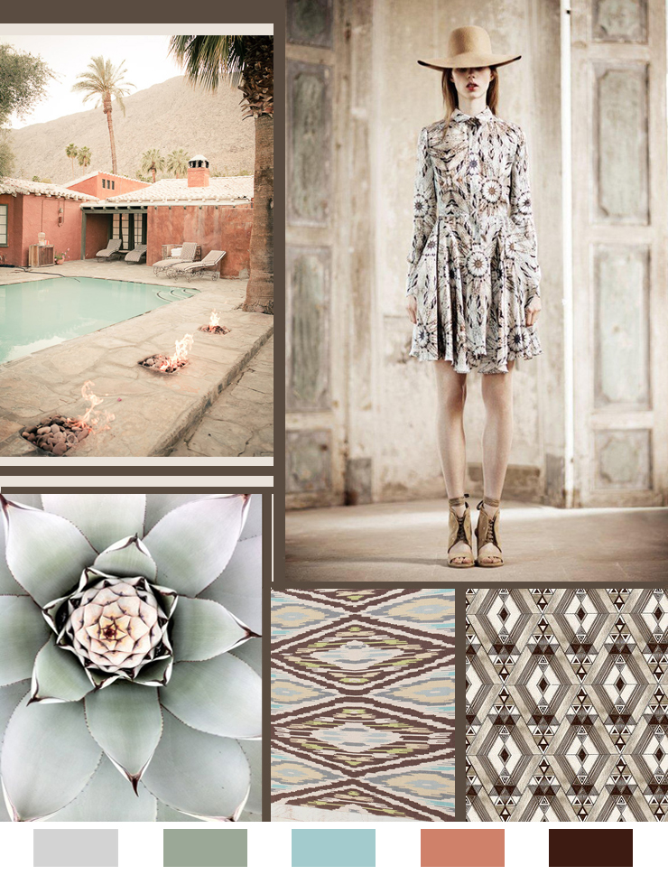 Desert Oasis: Monday Color Mood via Aaryn West