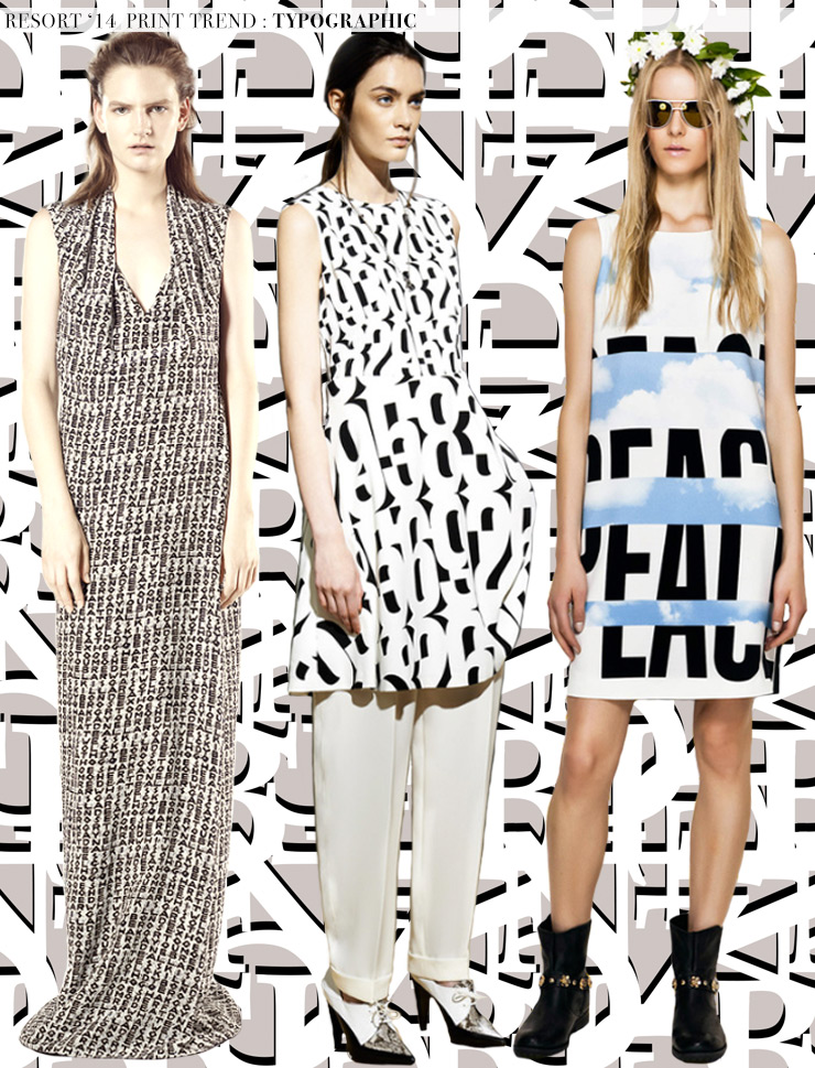 Resort 2014 Runway Trends: Typographic