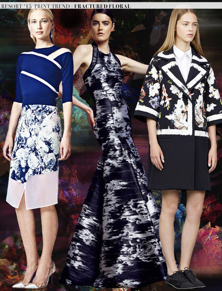 Resort '15 Print Trends: Fractured Florals via Aaryn West