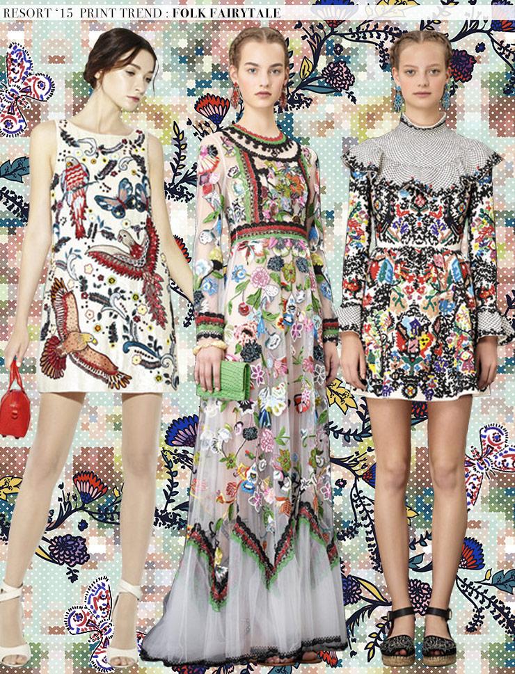 Resort '15 Print Trends: Folk Fairytale via Aaryn West
