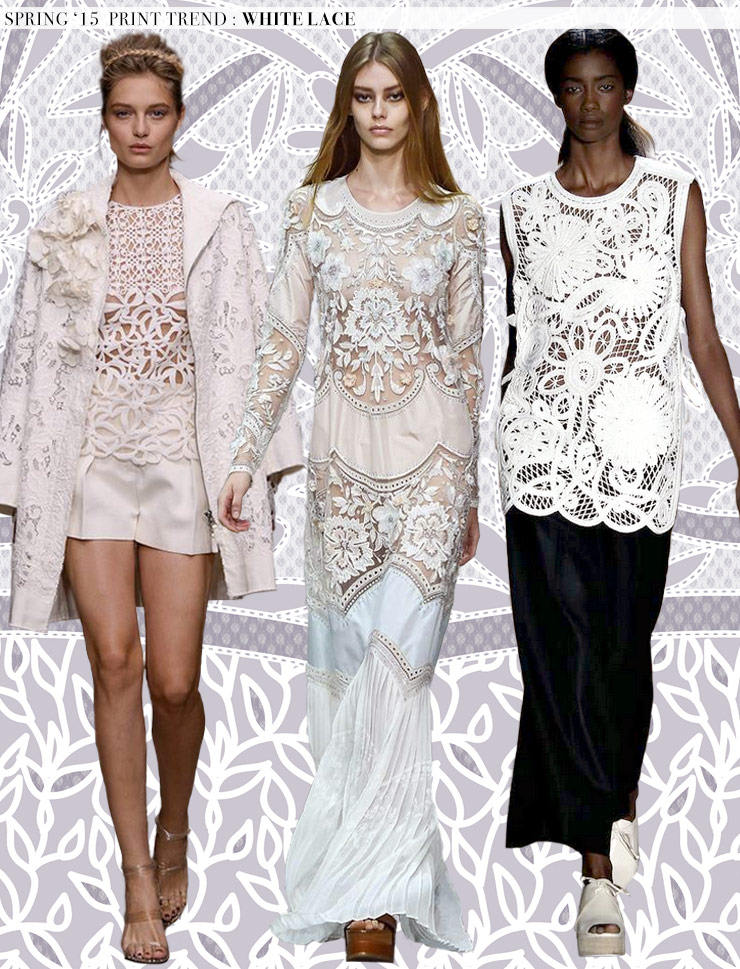 Spring 2015 Runway Trends: White Lace via Aaryn West