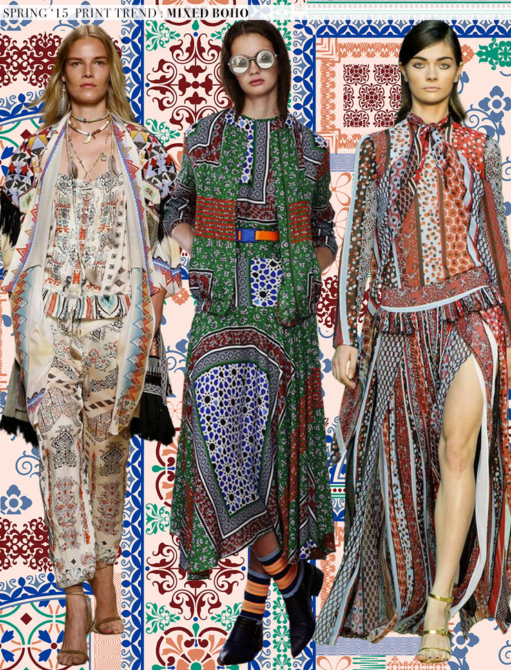 Spring 2015 Runway Trends Mixed Boho Aaryn West