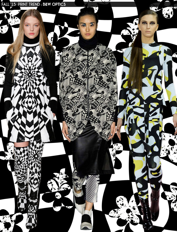 Fall '15 Print Trends: Black and White Optics via Aaryn West