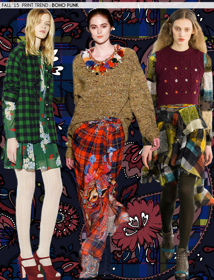 Fall '15 Print Trends: Boho Punk via Aaryn West