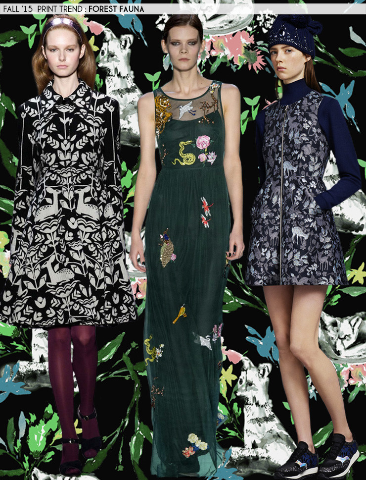Fall '15 Print Trends: Forest Fauna via Aaryn West
